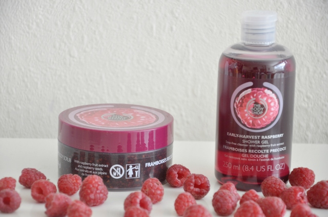 The Body Shop raspberry scrub 1