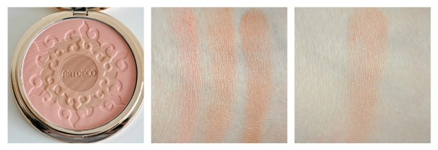 artdeco sunshine blush swatches