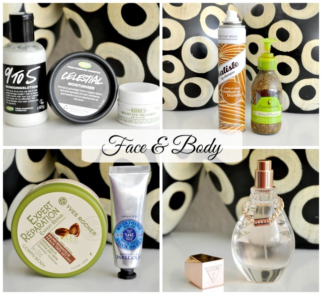 face and body favorites october